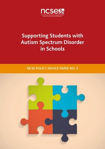 Supporting Students with Autism Spectrum Disorder in Schools