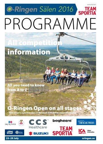 O-Ringen Sälen 2016 Programme