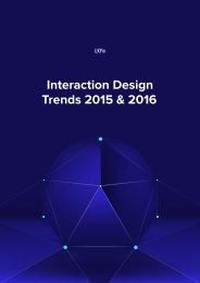 Interaction Design Trends 2015 & 2016