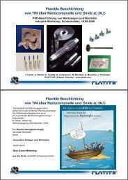Flexible Beschichtung von TiN über Nanocomposite und Oxide zu ...