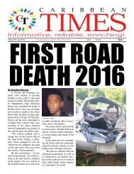 Caribbean Times 52nd Issue - Friday 15th July 2016