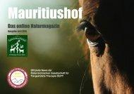 Mauritiushof Natur Magazin Juli 2016