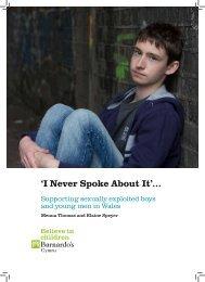 'I Never Spoke About It'..