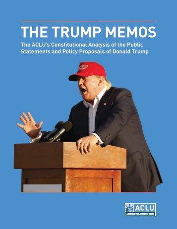 THE TRUMP MEMOS
