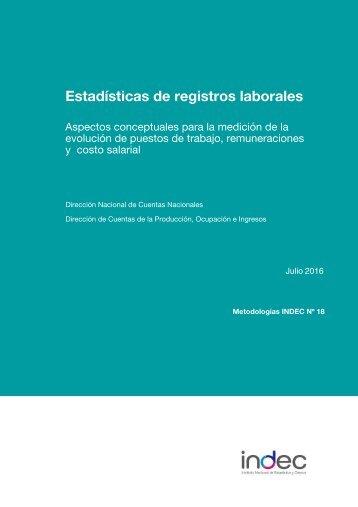 Estadísticas de registros laborales