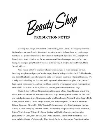 PRODUCTION NOTES - Hollywood Jesus