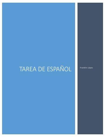 Tarea de Español