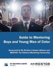 Guide to Mentoring Boys and Young Men of Color