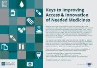Keys to Improving Access & Innovation of Needed Medicines