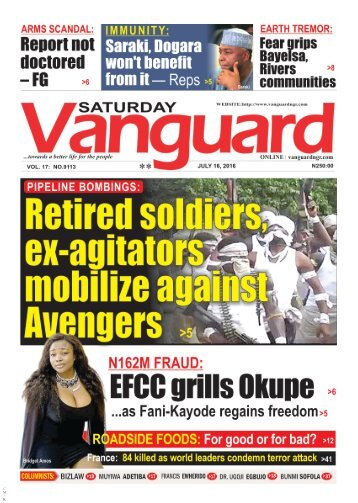 Retired soldiers, ex-agitators mobilize against Avengers