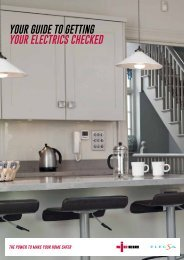 your guide to GETTING YOUR ELECTRICS CHECKED