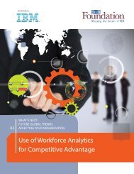 Use of Workforce Analytics for Competitive Advantage