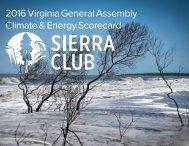 2016 Virginia General Assembly Climate & Energy Scorecard