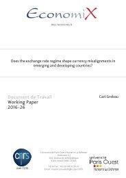 Document de Travail Working Paper 2016-26