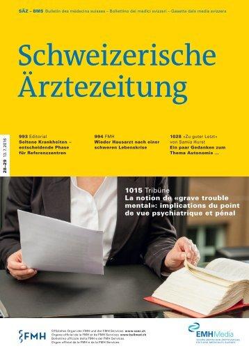 Schweizerische Ärztezeitung