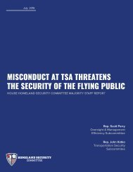MISCONDUCT AT TSA THREATENS THE SECURITY OF THE FLYING PUBLIC