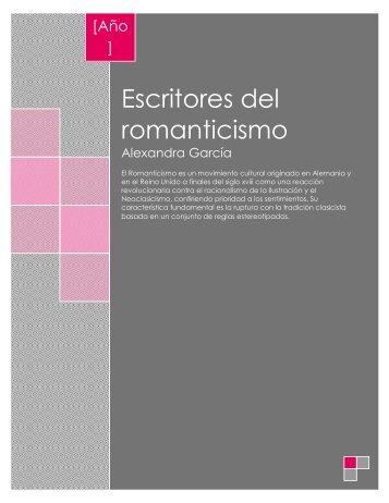 Escritores del romanticismo