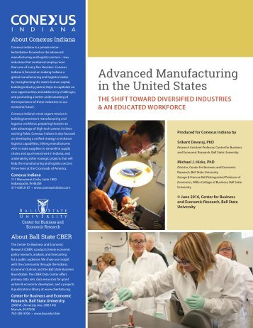 Advanced Manufacturing in the United States
