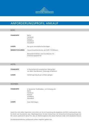 ANfOrdEruNGSprOfil ANkAuf - Deutsche Immobilien AG