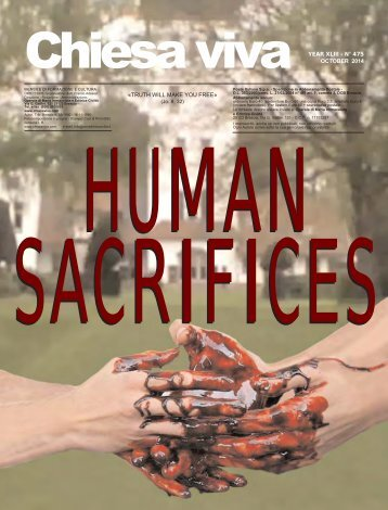 Human Sacrifices: including Pope Benedict XVI
