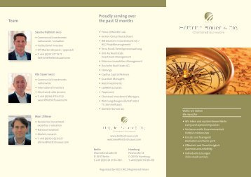 Company profile (PDF) - Hettrich Sauer & Cie. - Chartered Surveyors