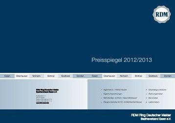 Preisspiegel 2012/2013 - Tullius Immobilien RDM Essen