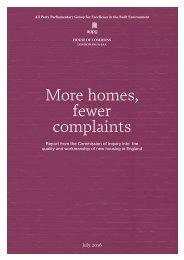 More homes fewer complaints