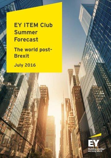 EY ITEM Club Summer Forecast