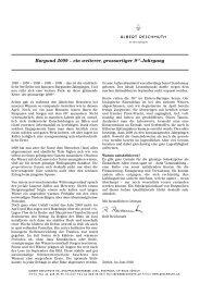 Burgund 2009 – ein weiterer, grossartiger 9 er-Jahrgang