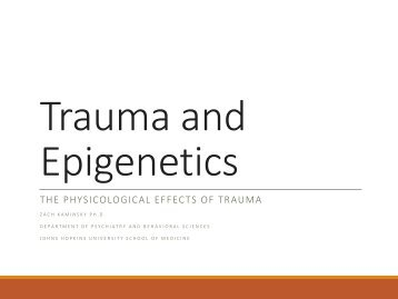 Trauma and Epigenetics