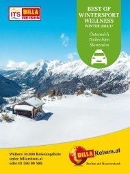 ITS Billa Reisen Winterkatalog 2016/17 - Autoreisen Wintersport Wellness