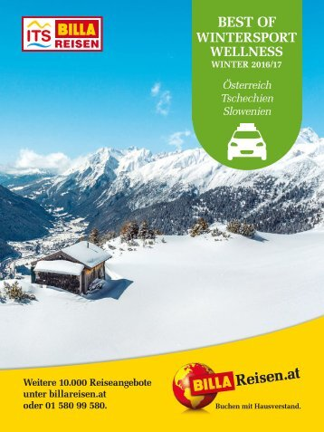 ITS Billa Reisen Winterkatalog 2016/17 - Autoreisen Wintersport Wellness