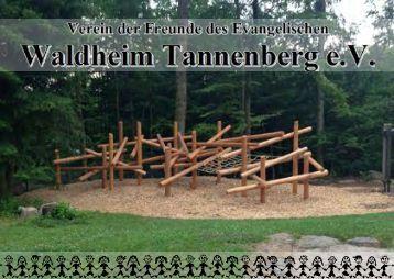 Flyer Verein der Freunde des ev. Waldheim Tannenberg e.V.