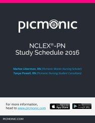 NCLEX -PN Study Schedule 2016
