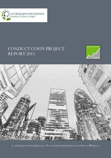 CONDUCT COSTS PROJECT REPORT 2015