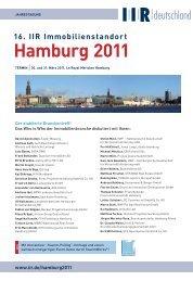 16. IIr Immobilienstandort hamburg 2011 - kon-ii.de