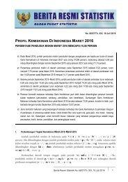 PROFIL KEMISKINAN DI INDONESIA MARET 2016