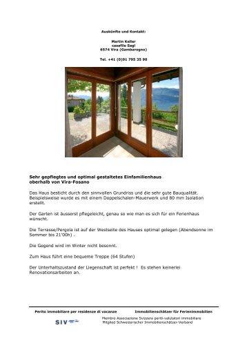 Verkaufsdokumentation als pdf mit weiteren Fotos und ... - Casafile