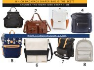 The Ultimate List of Backpack Diaper Bag