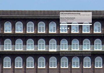 CAS - Hochschule für Architektur, Holz und Bau AHB - Berner