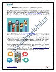 Mobile App Development make your Communication very Easy