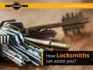 Ways in which Locksmiths can help