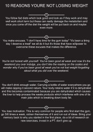 10 reasons youre not losing weight (Page 1)