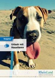 Ratgeber RheinLand Versicherungen – Urlaub mit Haustieren