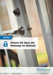 Ratgeber RheinLand Versicherungen – Sichern Sie Haus und Wohnung vor Einbruch