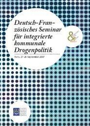 zösisches Seminar für integrierte kommunale Drogenpolitik