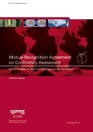 Mutual Recognition Agreement on Conformity Assessment
