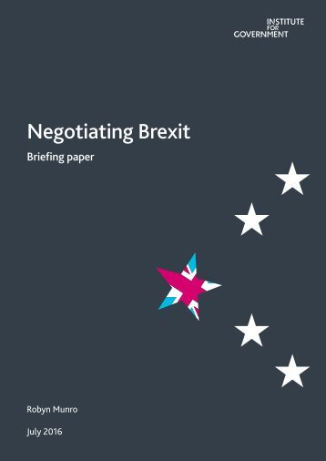 Negotiating Brexit