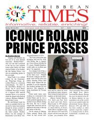 Caribbean Times 53rd Issue - Monday 14th July 2016