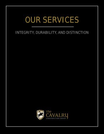 Our Services - Cavalry Construction